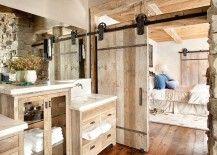 Custom barn door for the relaxed rustic bathroom 217x155 15 Sliding Barn Doors That Bring Rustic Beauty to the Bathroom