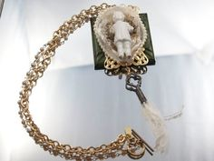 Shabby Charlotte Assemblage Necklace Antique by loreliekaydesigns, $35.00