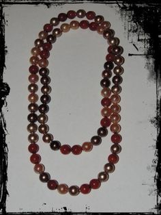 """Vintage Pop it Beads 35"""" Long Multi Colors Red, Gold, Cream, Bronze, Copper Oh How Fun!!!! Wear as a long necklace, or take apart to make a shorter necklace and a matching bracelet!"""