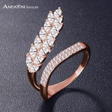 ANFASNI Fashion Wedding Engagement Rings For Women Leaf Shape with AAA Cubic Zircon Surround Jewelry Bijoux Wholesale CRI1041(China (Mainland))
