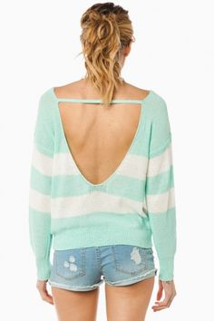 Central Line Sweater in Mint