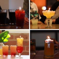 Drink Candles // #cocktails #drinks #beer #margarita #rum #candles #DIY