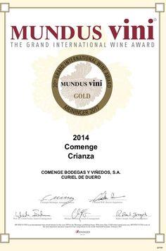 """Hoy estamos de enhorabuena... Nuestros #vinos """"Comenge Crianza 2014"""" y """"Familia Comenge Crianza"""", han ganado sendas medallas de oro en el """"MUNDUS VINIE, The Grand International Wine Award""""..  #vino #bodegas #Madrid #enoturismo"""