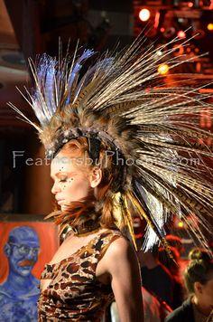 RTS Light Up LED Feather Mohawk Headdress Hat by FeathersByPhoenix