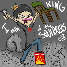 Markiplier - King of the Squirrels by Rawri-Tea