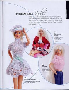 Ropa Barbie crochet - Liru labores textiles - Álbuns da web do Picasa