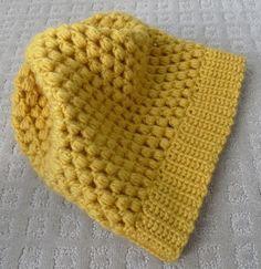 Easy Peasy slouchy puff stitch crochet hat