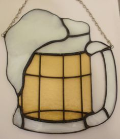 Large Mug of Beer with Suds Stained Glass by missourijewel on Etsy, $52.00