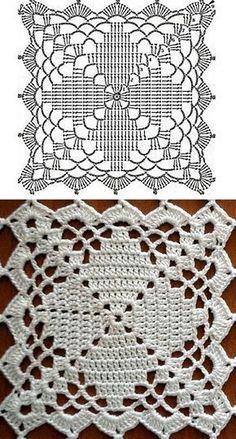 Transcendent Crochet a Solid Granny Square Ideas. Inconceivable Crochet a Solid Granny Square Ideas. Crochet Blocks, Crochet Doily Patterns, Granny Square Crochet Pattern, Crochet Diagram, Crochet Squares, Crochet Chart, Thread Crochet, Crochet Granny, Crochet Designs