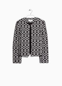 Mango Ethnic pattern jacket