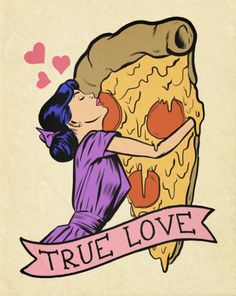 True Love - Pepperoni Pizza Comic Pop Art | Tumblr