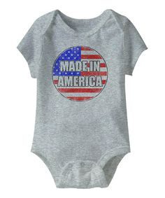 Take a look at this Gray Made in America Bodysuit - Infant by Urs Truly on #zulily today!
