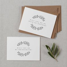 bridesmaid proposal card by kismet weddings | notonthehighstreet.com