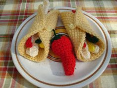 An extra special touch to any crocheted food collection.