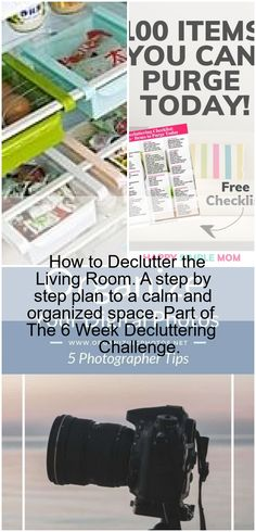 How to Declutter the Living Room. A step by step plan to a calm and organized space. Part of The 6 Week Decluttering Challenge.,How to Declutter the Living Room, Decluttering, Challenges, Calm, Organization, How To Plan, Living Room, Space, Getting Organized, Floor Space