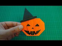 origami 【Halloween/jack o'lantern in a in a witch hat】 - YouTube Origami Halloween, Halloween Crafts, Halloween Decorations, Origami Easy, Halloween Jack, Funny Halloween Costumes, Origami Pumpkin, Dashboards, Pumpkins