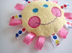 (9) Name: 'Sewing : Sunshine baby ribbon toy template