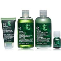 The Body Shop Tea Tree Skincare Routine Kit, Made with Tea Tree Oil,... ($42) ❤ liked on Polyvore featuring beauty products and gift sets & kits