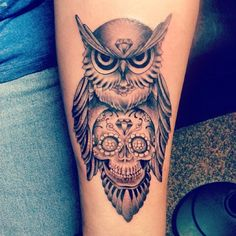 50+ Owl and Skull Tattoo Ideas For Your First Ink