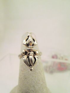Sterling Silver Dimensional Ring Size 5.5 by VintageBADTIQUE