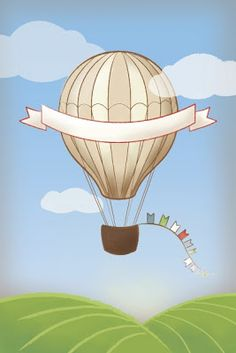 Hot-Air Balloon Baby Shower by Everyday Art