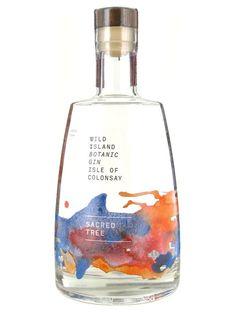 Wild Island - Scalasaig Gorgeous bottle. Stunning gift idea. #gin #gingift #beautifulbottle