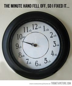 My kind of clock.