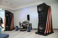 The impressive Sigma Acoustics Maat loudspeakers.