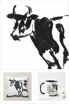 Black And White Drawing, Animals Images, Cheer Up, Candy Jars, Diy Face Mask, All Design, Gifts For Dad, Cow, Moose Art