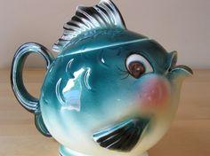 vintage fish teapot
