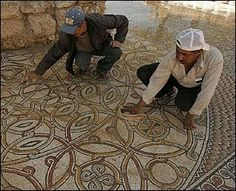 The above mosaic is part of the ancient Tel Shiloh church, also known as the Church of the Ark because the ark of the covenant was kept there in a pre-Temple of Solomon enclosure until it was taken by the Philistines.