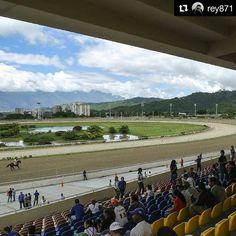 Foto de @rey871 El Hipodromo... el aprecio por su obra una joya de arquitectura de la ciudad. Del hipismo me sorprender ver nombres de caballos que se apuestan en los tredings topics cada fin de semana  #ccs #caracas #caminacaracas  Hipódromo La Rinconada Arq. Arthur Froehlich  Arq. Roberto Burle Marx 1955-1959  #Caracas #Arquitectura #Paisajismo #Architecture #ArthurFroehlich #BurleMarx
