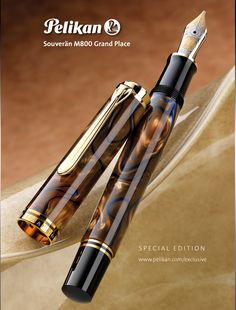 Pelikan M800 Grand Place special edition fountain pen.  Coming soon! Available via special order through Goulet Pens :)