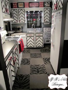 If It's Not Baroque...: Black and White Chevron Kitchen Reveal
