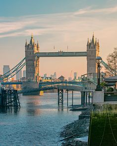 Good morning London! A shot of the lovely Tower Bridge taken from the South bank of the Thames•""