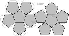 Figura para hacer un pentaedro                                                                                                                                                      Más