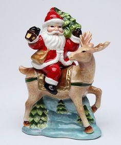 Cosmos Santa & Reindeer Salt & Pepper Shakers | zulily