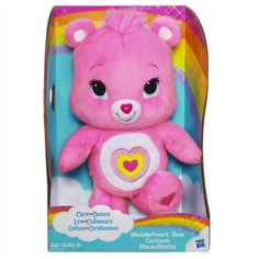 Ideal for the Care Bears fan, comes this adorable Wonderheart Bear doll. Measures approximately 10-12 inches.
