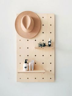 Home Office Furniture Must-Haves: Display Birch Plywood Pegboard Plywood Furniture, Ikea Furniture, Home Office Furniture, Barbie Furniture, Furniture Making, Cool Furniture, Furniture Design, Garden Furniture, Plywood Interior