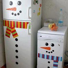 Adorno navideño para refrigerador