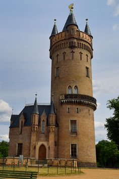 Flatowturm, a Neo-Gothic architectural style from 1856, Babelsberg Park, Potsdam, Germany