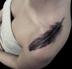 I just really like this feather, placement would be behind my ear and smaller