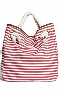 sac en toile, sac de plage rayé