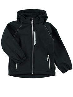 KIDS NITALFA SOLID SOFTSHELL JACKET, Black