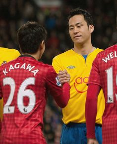 Shinji Kagawa(Manchester United) & Maya Yoshida(Southampton)@2013.01.31 Premier League