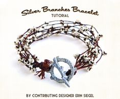 Beautiful DIY Silver Branches Bracelet | Shelterness