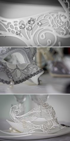 Love these masks... For the bride, of course!