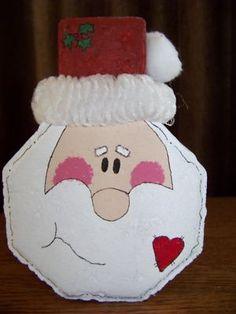 Painted Santa Face Paver