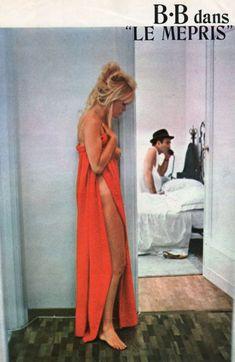Brigitte Bardot dans 'Le mépris', un film de Jean-Luc Godard.