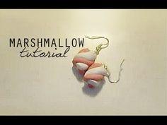 tutorial fimo - orecchini marshmallow
